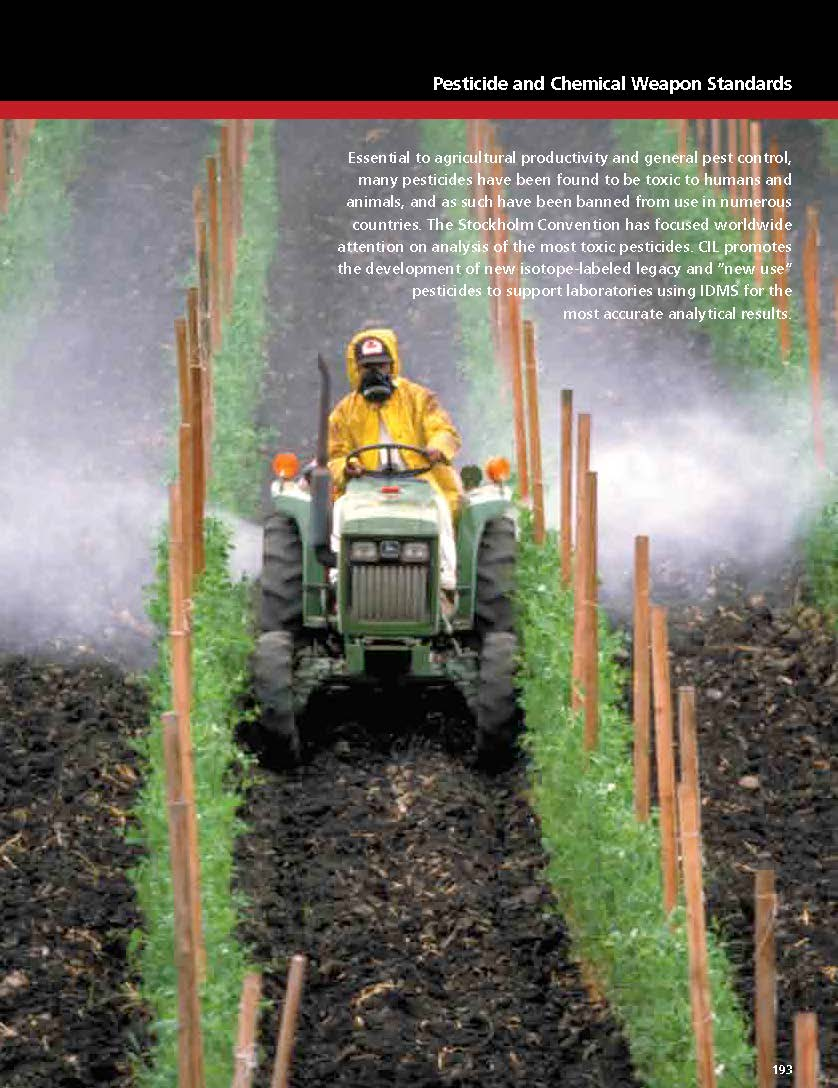 CIL - Pesticide and Chemical Weapon Standards