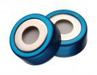 Bimetal caps inc.  PTFE/silicone septa, translucent, 100 pcs (0900-2201-C)