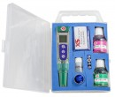 pH 5 tester kit, incl. 1 extra cap for calibration, pH 4 and pH 7 buffers