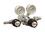 Redukční ventil, dvoustupňový, chromovaná mosaz, nerezová membrána, výstupní tlak 17 bar (250 psi)