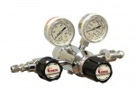 Chrome-Plated Brass Barstock, Dual Stage, Pressure Regulator, Outlet pressure 7 bar (50 psi)