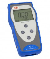 Portable multimeter PC 7+ DHS with pH electrode 201T DHS and conductivity cell 2301T, complete kit with carrying case