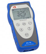 Portable multimeter PC 70+ DHS, complete kit with pH electrode 201T DHS and conductivity cell 2301T in carrying case
