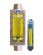 Industrial flowmeter, SS, 14 l/min H2O, 475 l/min air