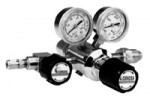 Regulator, Chrome-Plated Brass Barstock, Dual Stage, 4-port configuration, 312 series