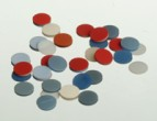 8mm RED PTFE/White Silicone SEPTA ONLY for 8-425 caps, 100 pcs